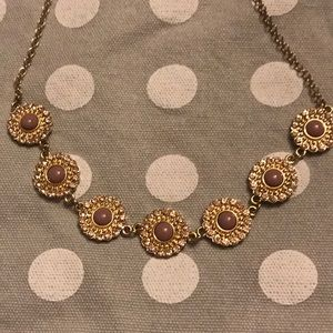 Francesca's pink and gold necklace